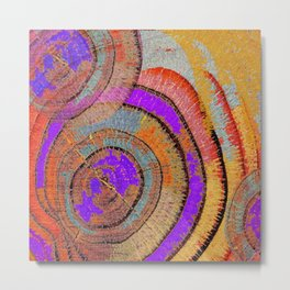 Tree Ring Abstract Metal Print