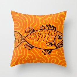 Fish brain reef  Throw Pillow