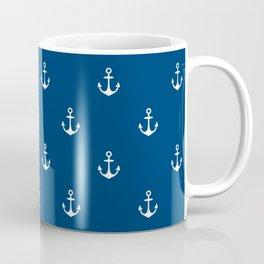 Blue Anchors Pattern Coffee Mug