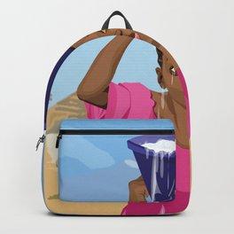 African Village Girl Backpack