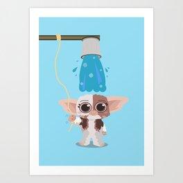 Ice bucket challenge Gizmo Art Print