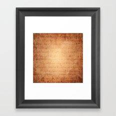 Old World Framed Art Print