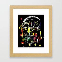 ? Cuàl es el color de la paz? Framed Art Print