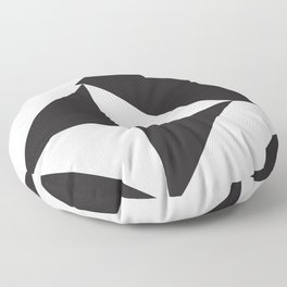 losanges noirs 7 Floor Pillow