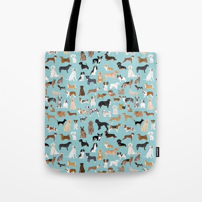 Dogs pattern print must have gifts for dog person mint dog breeds Umhängetasche