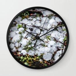 Hail, Granizo Wall Clock