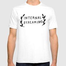 Internal screaming Mens Fitted Tee White MEDIUM