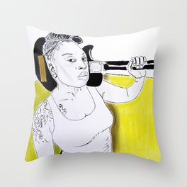 Meshell Ndegeocello Throw Pillow