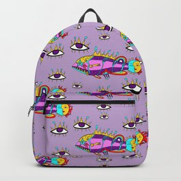 Cosmic fish with eyes Backpack