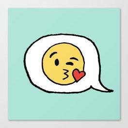 Emoji - Winky Face Canvas Print