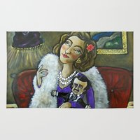 poe Area & Throw Rugs featuring Bettye Noir and Her Poe Poe Doll  by Artistic Environments