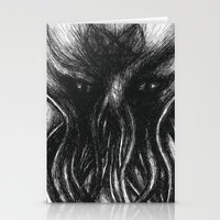 """cthulu Stationery Cards featuring Cthulu """"He is Risen"""" H.P. Lovecraft by judgehydrogen"""