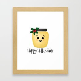 Happy Hollandaise Framed Art Print