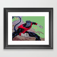 The Amazing Nightcrawler Framed Art Print