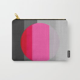 Modern Circle Pink Gray 2 Carry-All Pouch