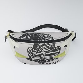 The Visit - Retro Vintage Tiger Cat Graphic Fanny Pack