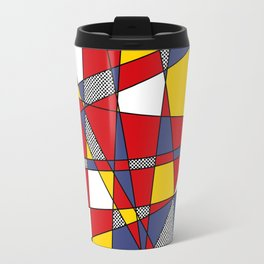 Red, Yellow & Blue Abstract Travel Mug