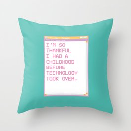 Notepad'96 Turquoise Throw Pillow
