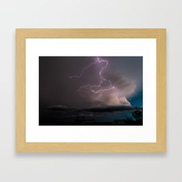 Spring Lightning Framed Art Print