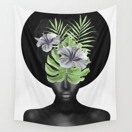 Tropical Girl Wall Tapestry