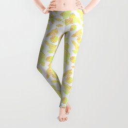 Abstract pattern with slices of citrus fruit . Leggings