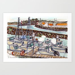The Harbour 2, Figueira Da Foz, Portugal Art Print