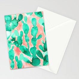 Paddle Cactus Blush Stationery Cards
