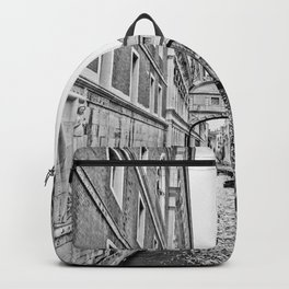 Venice Canal BW Backpack