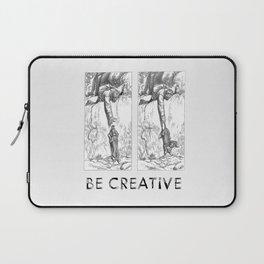 BE CREATIVE - Funny Dachshund Dog Illustration Laptop Sleeve