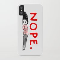 fun iPhone & iPod Cases featuring Nope by gemma correll
