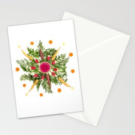 Mixed Carrot Snowflake Stationery Cards