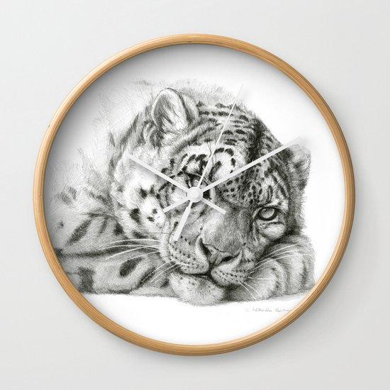 Pensive Snow Leopard G2011-011 Wall Clock