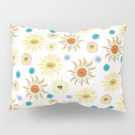 mid century retro sun solar 60's pattern Pillow Sham