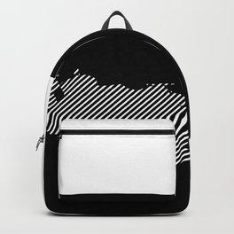 Venezuelan striped map - white Backpack