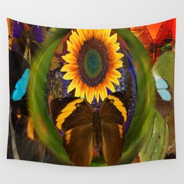 Butterfly and the Flower Wall Tapestry