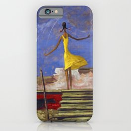 African American Masterpiece - Harlem Renaissance 'American Nightmare' Untitled by Hughie Smith iPhone Case