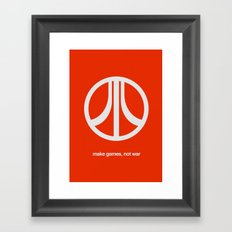 Make Games, Not War Framed Art Print