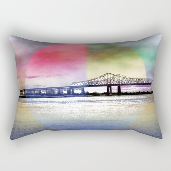 Crescent City Connection Bridge Rectangular Pillow