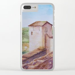 Puycelci Tower in Provence WC150615-12 Clear iPhone Case