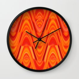 Waves of Orange Wall Clock
