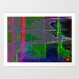 Qpop -Synthwave 1 Art Print