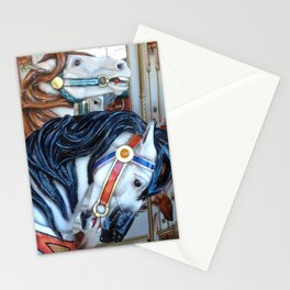 Carousel Horses Carnival Merry Go Round Horses Stationery Cards