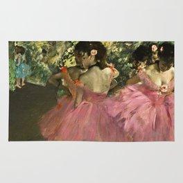 Edgar Degas - Dancers In Pink Rug