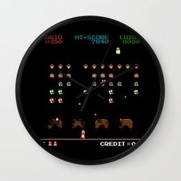 Mario Invaders Wall Clock