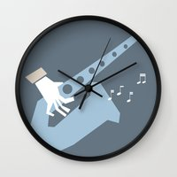 jazz Wall Clocks featuring jazz by liva cabule