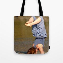 Yoga on Palolem Beach Tote Bag