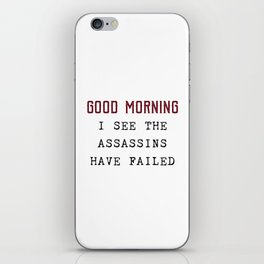 The Assassins Failed iPhone Skin