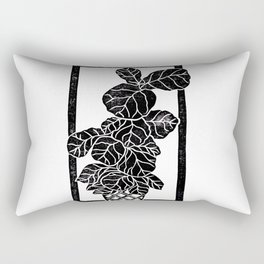 Fiddle Leaf Fig Block Print Rectangular Pillow