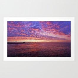 Sunrise #2 Huntington Beach Pier   11/12/13 Art Print