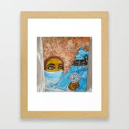 Curls in the Wind Framed Art Print